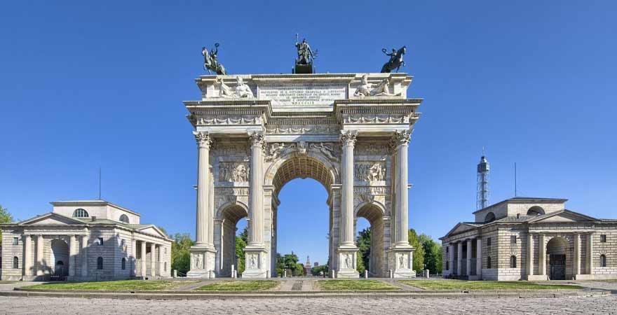 Arco della Pace in Mailand in Italien