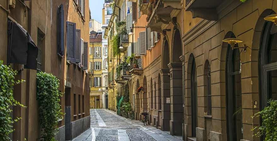 Brera Viertel in Mailand in Italien