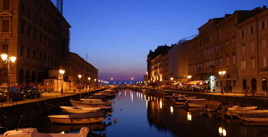 Canale Grande in Triest in Italien