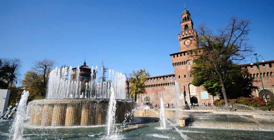 Castello Sforzesco in Mailand in Italien