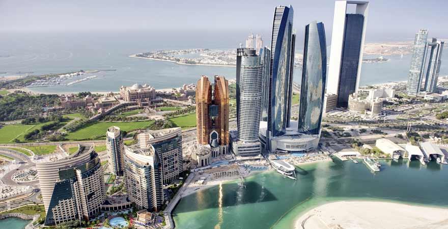 Corniche Abu Dhabi in den VAE