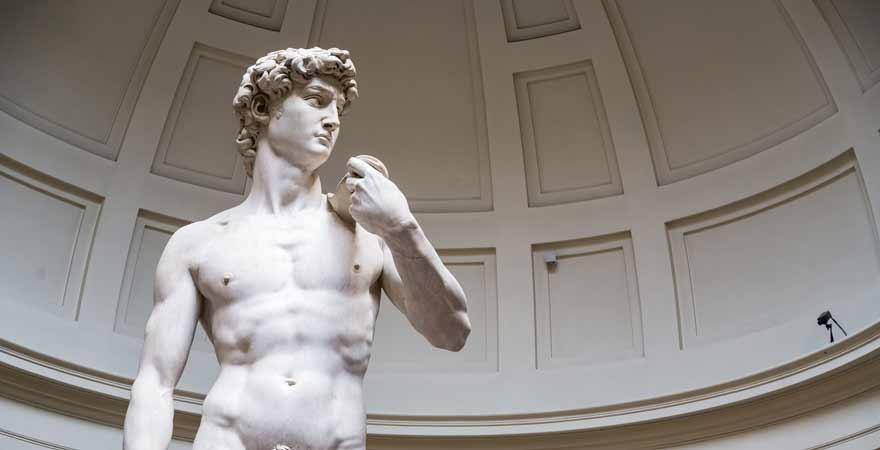 David von Michelangelo in Florenz in Italien
