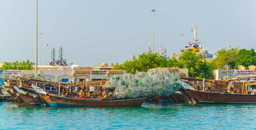 Dhow Harbour Abu Dhabi in den VAE
