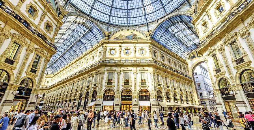 Galleria Vittorio Emanuele II in Mailand in Italien