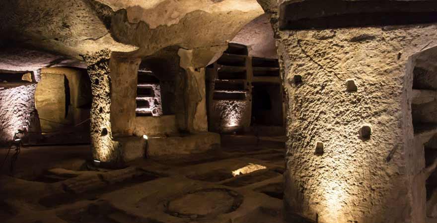 Katakomben in San Gennaro in Neapel in Italien