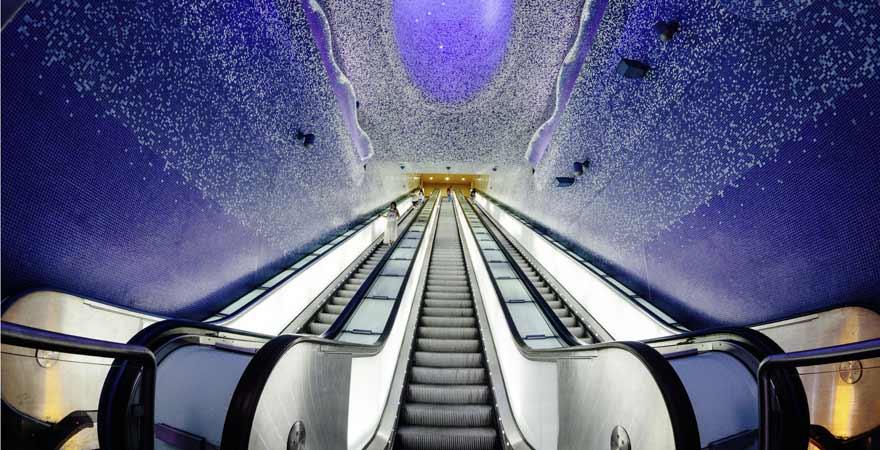 Metrostation Via Toledo in Neapel in Italien