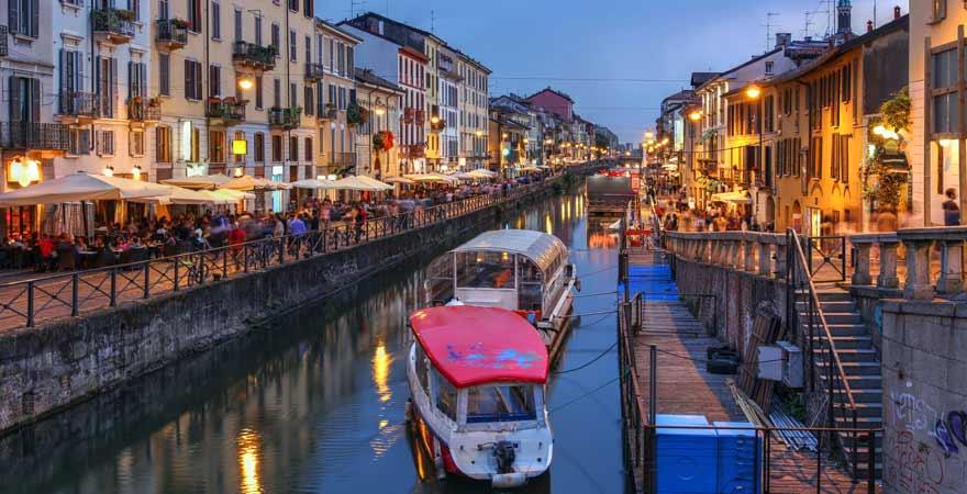 Navigli Viertel in Mailand in Italien