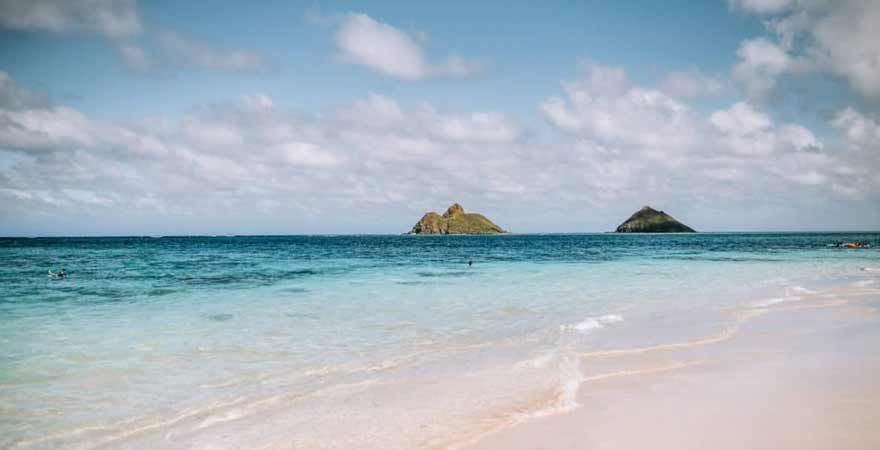 Lanikai Beach auf Oahu in hawaii