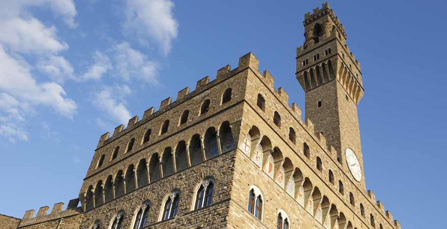 Palazzo Vecchio in Florenz in Italien