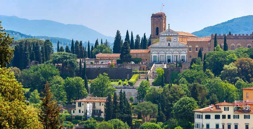 San Miniato al Monte in Florenz in Italien