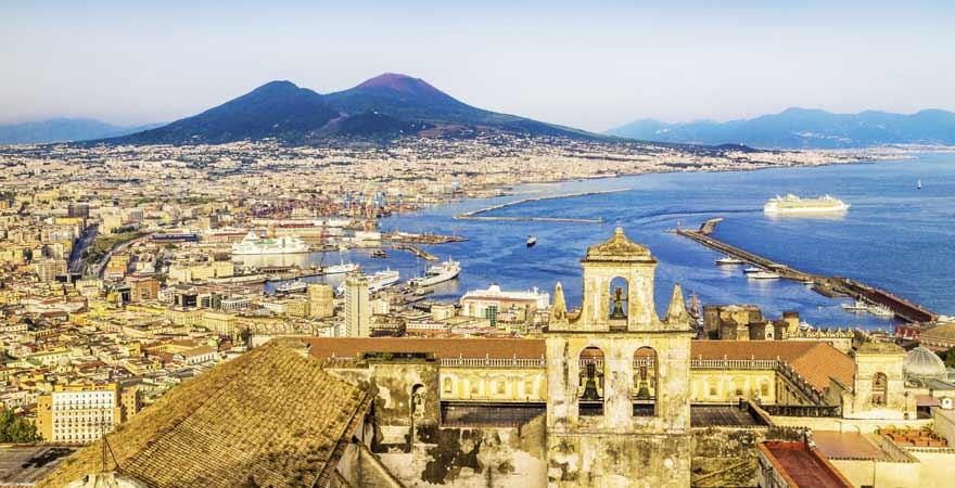 Vesuv bei Neapel in Italien