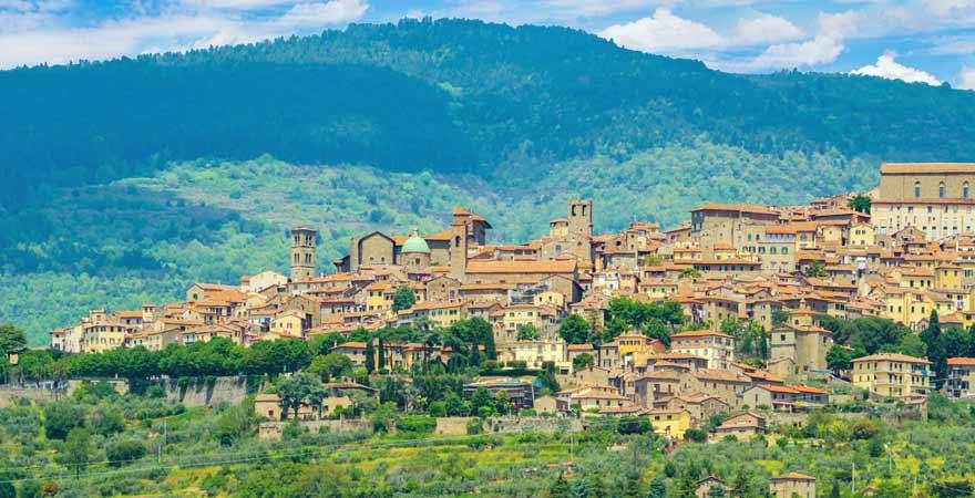 Arezzo in der Toskana in Italien