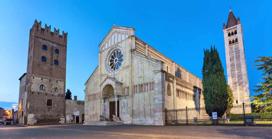 Basilico San Zeno Maggiore in Verona in Italien