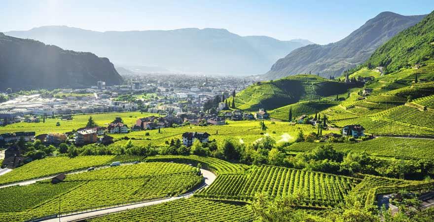 Bozen in Südtirol in Italien