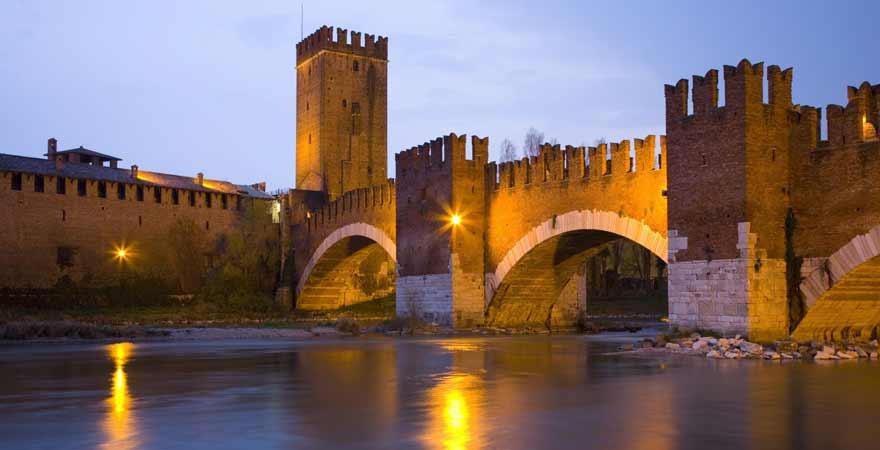 Castelvecchio in Verona in Italien