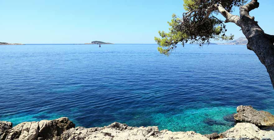 Cavtat Island bei Dubrovnik in Kroatien