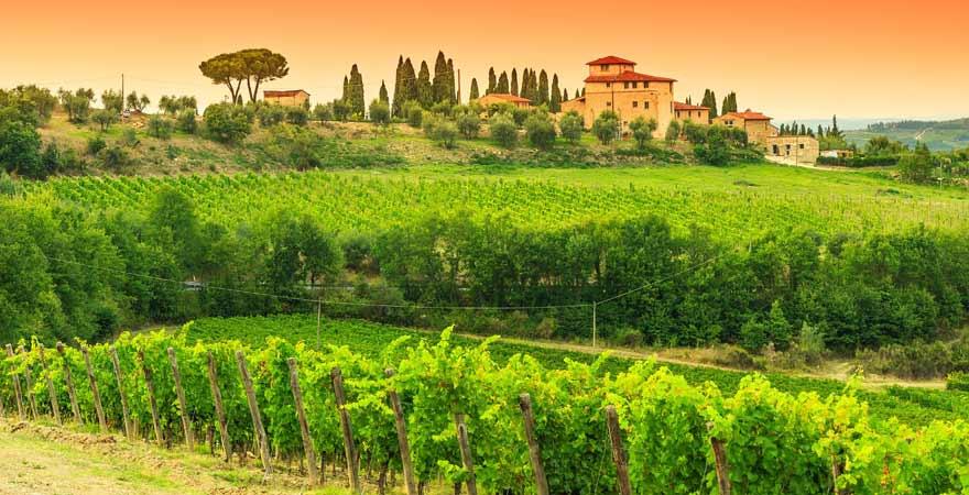 Gut in der Toskana in Italien