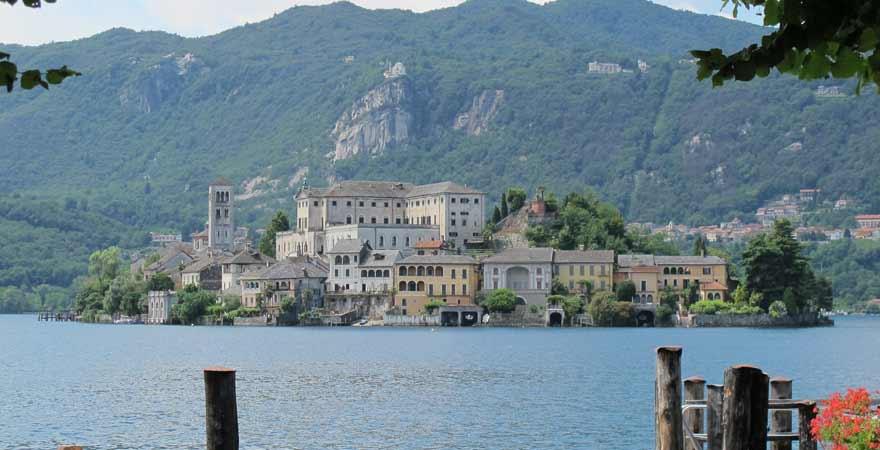 Lago di Orta in Italien
