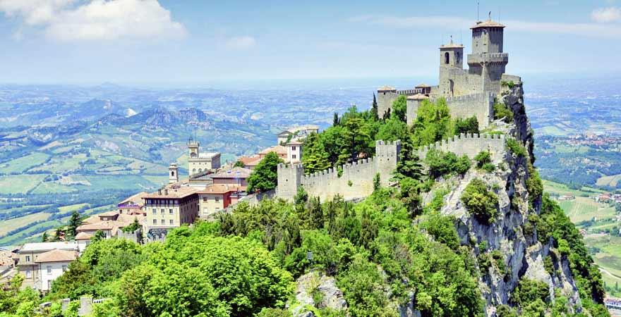 Rocca in San Marino in Italien