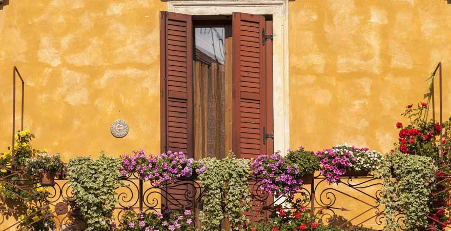 Balkon in Verona in Italien
