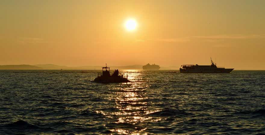 Sonnenuntergang auf dem Meer in Kroatien