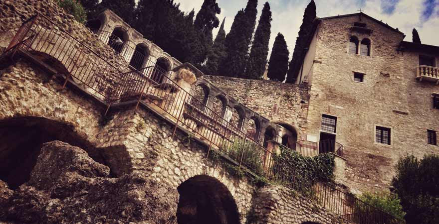 Teatro Romano in Verona in Italien