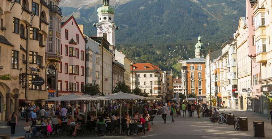 Altstadt von Innsbruck in Österreich