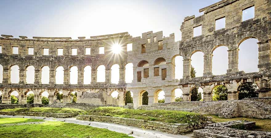 Amphitheater in Pula in Kroatien