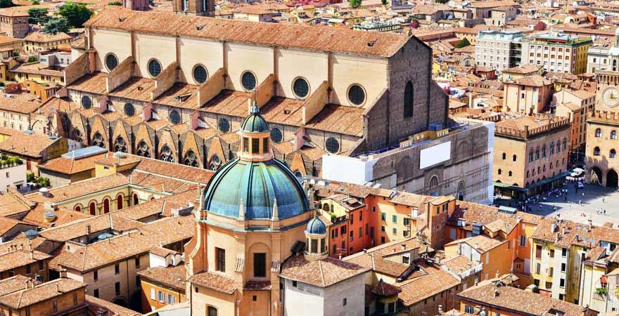 Basilica di San Petronio in Bologna in Italien