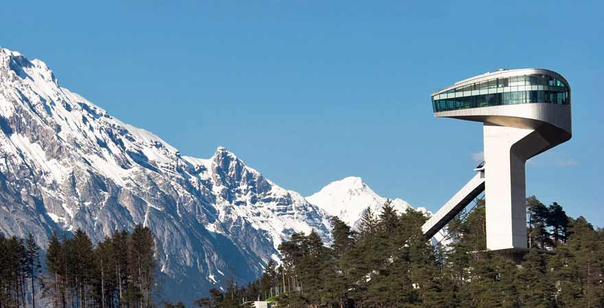 Bergiselschanze in Innsbruck in Österreich
