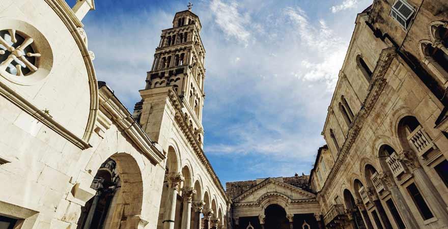 Diokletianpalast in Split in Kroatien