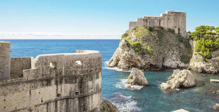 Festung Lovrjenac in Dubrovnik in Kroatien