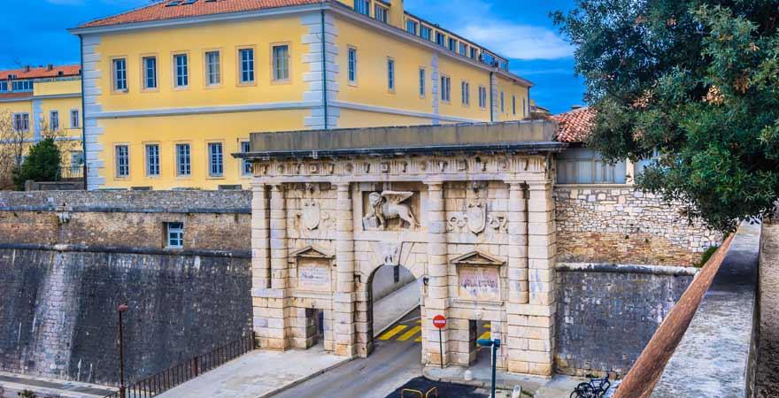 Fosa und Koperna Vrata in Zadar in Kroatien