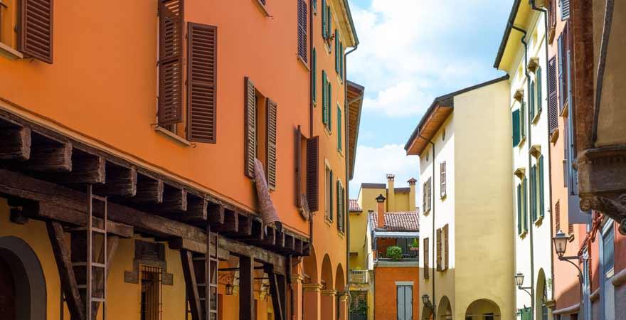 Ghetto in Bologna in Italien