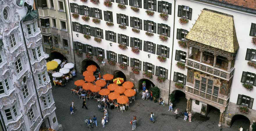 Goldenes Dachl in Innsbruck in Österreich