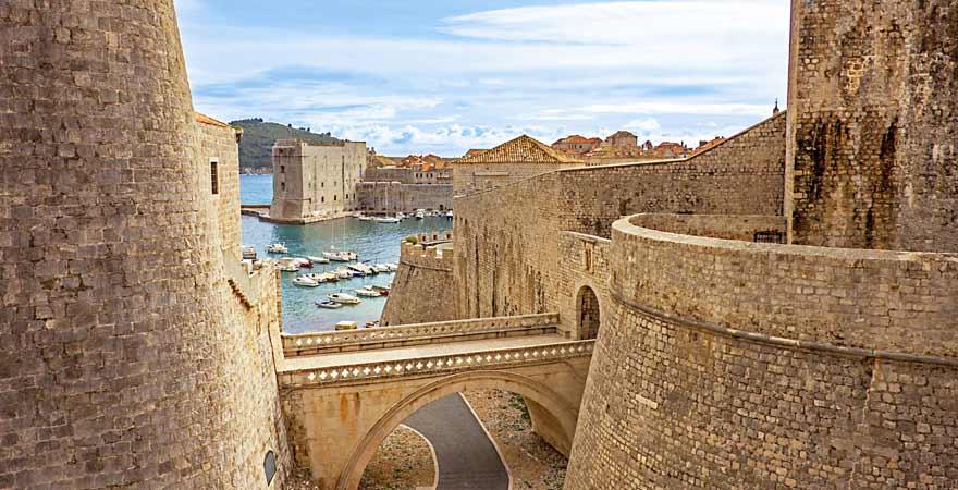 Hafen in Dubrovnik in Kroatien