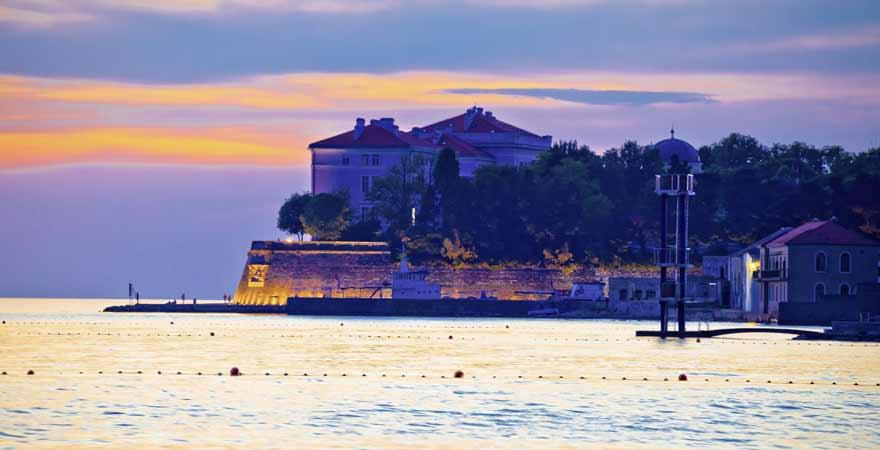 Küste von Zadar in Kroatien