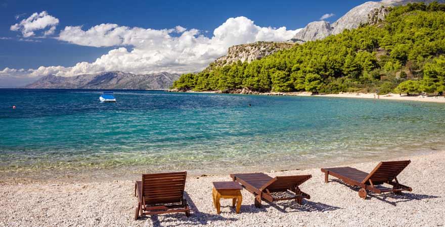 Makarska Strand in Kroatien