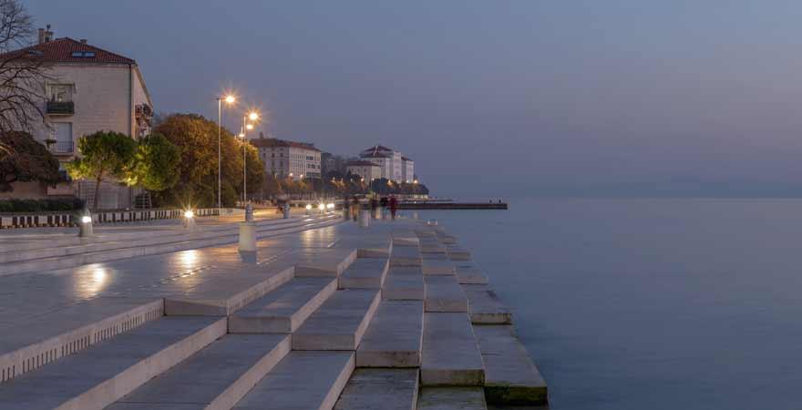 Meeresorgel in Zadar in Kroatien