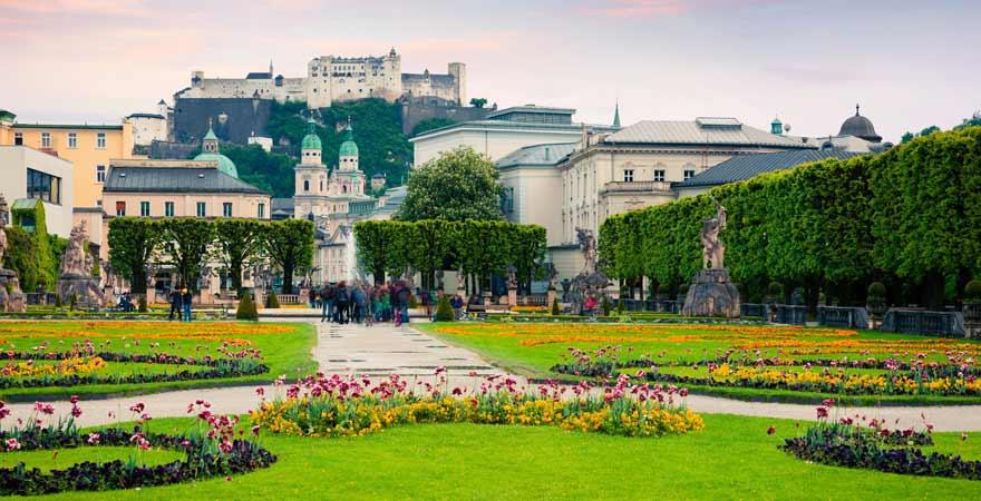 Mirabell Garten in Salzburg in Österreich