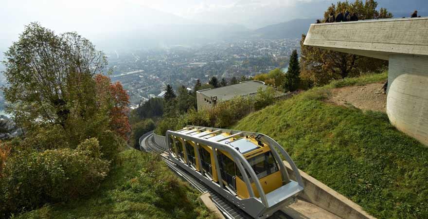 Nordkettenbahn in Innsbruck in Österreich