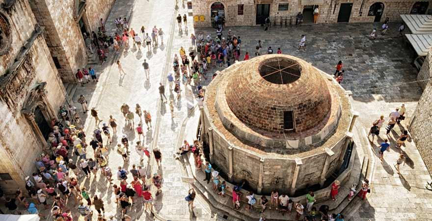 Onofrio Brunnen in Dubrovnik in Kroatien