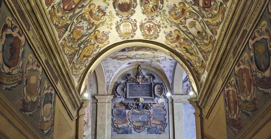 Palazzo dell Archiginnasio in Bologna in Italien