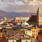Panorama von Linz in Österreich