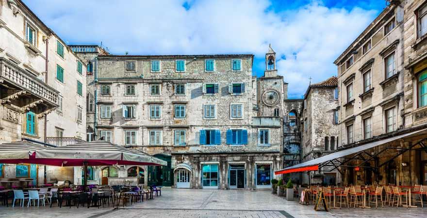 Pjaca Platz in Split in Kroatien