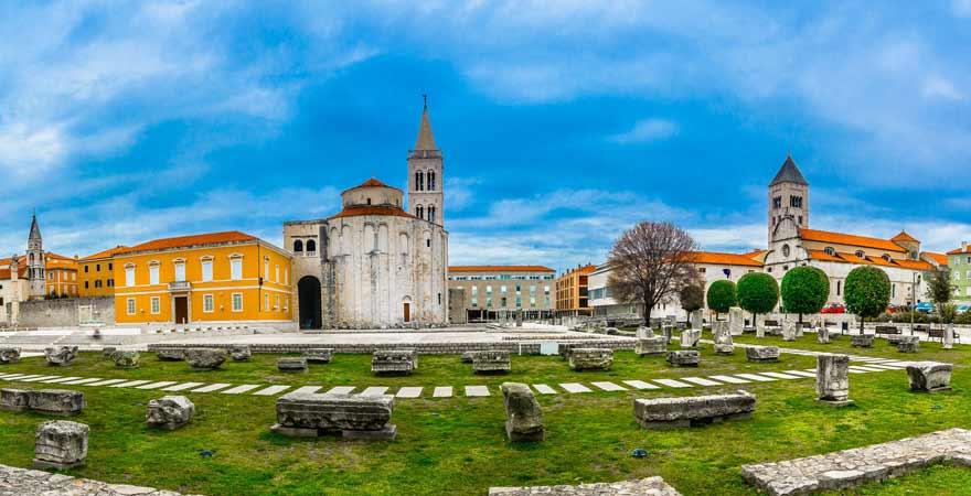 Römisches Forum in Zadar in Kroatien