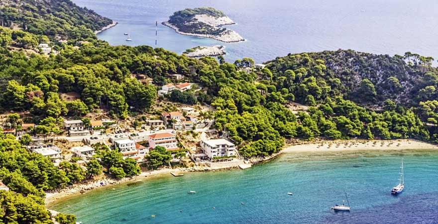 Saplunara auf Mljet in Kroatien