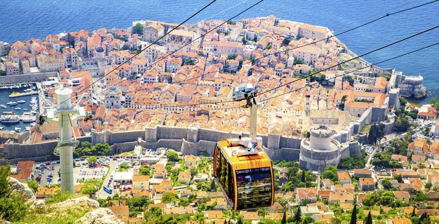 Seilbahn in Dubrovnik in Kroatien