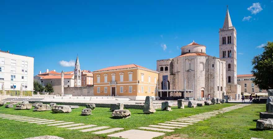 St Marys Church und Sv Donat in Zadar in Kroatien