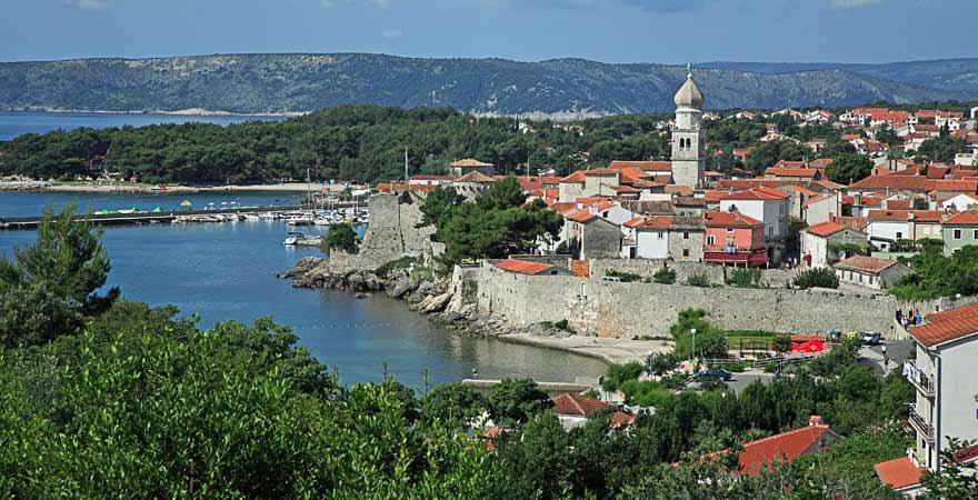 Stadt Krk in Kroatien